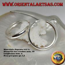 Orecchino in Argento 925‰ cerchio liscio bombato da 40 x 6 mm