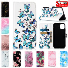For iPhone 11 Max XR X Xs 5 6s 7 8 SE 2020 Leather Wallet Flip Card Phone Case