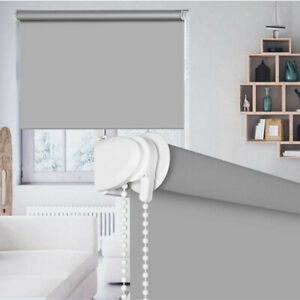 100% Blackout Roller Shades Window Blinds w/ Valance Cover Waterproof UV Protect