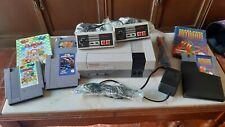 Lote Consola Nintendo Nes 2 Mandos Y 4 Juegos