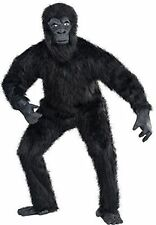 Unisex Mens Ladies Gorilla Guy Costume for Monkey Ape Fancy Dress Outfit