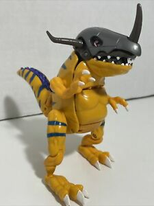 DIGIMON DIGIVOLVING METAL GREYMON ACTION FIGURE TOY 1999 BANDAI NEARLY COMPLETE