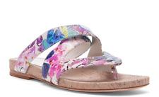 NIB $200 Donald J Pliner FLIP White Multi Snake Fleur Sandals Shoes Womens 8 M