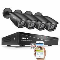 SANNCE 8CH 1080N DVR CCTV Camera System Surveillance Kit w/ 4x HD Outdoor Day