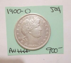 1900-O BARBER HALF DOLLAR APPEARS TO BE AU TO BETTER YOU GRADE