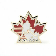 CANADA HOCKEY MAPLE LEAF NHL  HOCKEY LOGO METAL PIN BADGE .. NEW