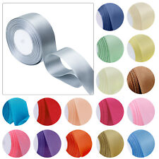 25m Double Sided Faced Satin Quality Tying Ribbon 23mm Width Decorative Ribbons