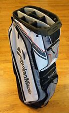 TaylorMade Golf San Clemente Lightweight Cart Bag White Red Gray Black NEW