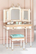 Barbie Silkstone Vanity and Bench, Accessories 2004 Gold Label New