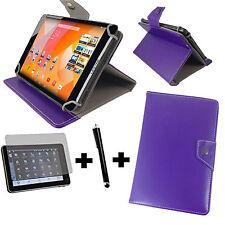 3in1 Set 7 Zoll Samsung Galaxy Tab A 7.0 Hülle Tasche Buchtasche Pen Folie Lila