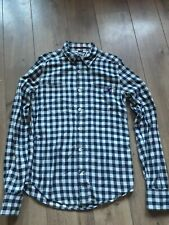"""SUPERDRY 100% COTTON BLUE AND WHITE CHECK LUMBERJACK SHIRT SIZE L CHEST 40"""""""