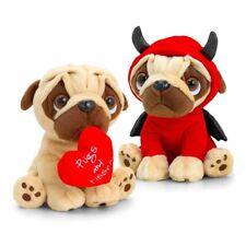 PUGSLEY VALENTINES - KEEL TOYS PUG DOG SOFT PLUSH STUFFED ANIMAL TOY 20cm **NEW*