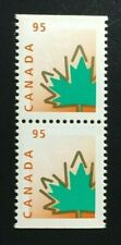 Canada #1686as MNH, Maple Leaf Defintive Booklet Pair of Stamps 1998