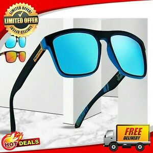 Luxury Polarized Sunglasses Men Driving Shades Goggle UV400 Vintage Glasses Blue
