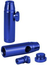 Metall Dosierer Snuff Bottle Schnupfdosierer Dispenser BLAU Portionierer