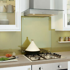 Clear Toughened Heat Resistant Glass Splashback with Pre-Drilled Holes & Screws