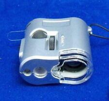 LED UV Pocket Microscope 50x magnification NEW