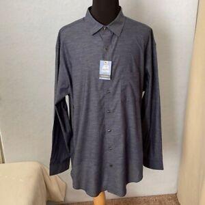 Van Heusen Big & Tall White Flecked Button Up Dress Shirt, Size 2XLT