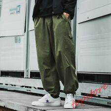 Straight Sagging Wide-Leg Trousers Work Pants Mens Hip Pop Casual Loose Trousers