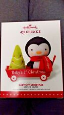 "HALLMARK KEEPSAKE CHRISTMAS ORNAMENT ""BABY'S FIRST CHRISTMAS"" NEW IN BOX"