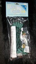 NEW Darice Deco Lights Green Wire / Clear Bulbs