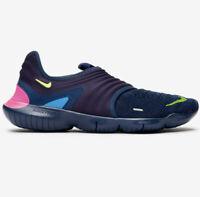 Nike Free RN Flyknit 3.0 Mens Midnight Navy Running Sneakers AQ5707-400 Men 11.5