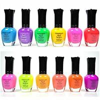Free 2 Day Ship! KLEANCOLOR NEON COLORS 12 FULL SET NAIL POLISH LACQUER