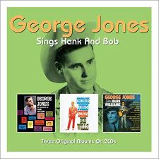 George Jones SINGS HANK WILLIAMS / BOB WILLS + SALUTES HANK 3 Albums NEW 2 CD