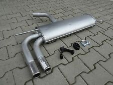 Silencer for Seat Altea Leon 1.6 1.9 TDi TD with chrom endpipe exhaust rear F097
