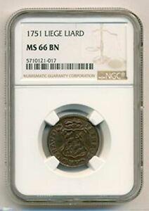 Belgium - Liege - 1751 Liard MS66 BN NGC
