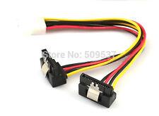 SATA 4Pin to 2-Right Angle 15Pin Serial ATA SATA  with clip Adapter Power Cable