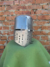 Medieval Great helm: Topfhelm from Maciejowski Bible (reconstruction). Steel