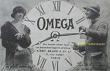 PUBLICITE OMEGA PAS DE DANGER J'AI UNE MONTRE POILU SOLDAT DE 1918 FRENCH AD PUB