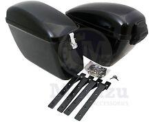 Mutazu Universal LW Hard Bags Motorcycle Saddlebags & Heavy Duty Mounting Kit