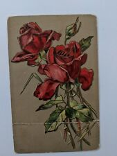 POSTCARD Roses Embossed posted 1910 O-1