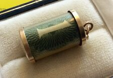 Nice Full Hallmarked Vintage 9ct Gold Emergency Old £1 Note Charm Or Pendant