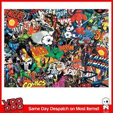 Marvel Stickerbomb Wrap Hoja (vehículo Fundido Vinilo) @ 1,3 m X 2m comic/superhero/jdm