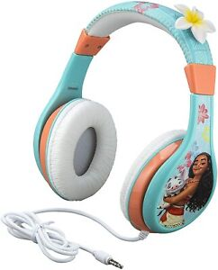 eKids - Kids Headphones, Moana Headphones For Kids, w/ Volume Control