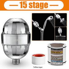 15 Stage Shower Head Filter Cartridge Chlorine Hard Water Softener Purifier