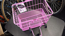 Sunlite LiftOff Bicycle Basket with Mesh Bottom-13.5 x 9.87 x 9.5 inches-Pink