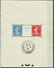 Francia / France 1927 BF 2 Esposizione filatelica Strasburgo usato cert Sorani