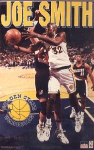 1996 Joe Smith Golden State Warriors  Original Starline Poster OOP