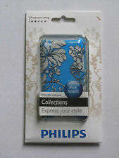 Phillips slim shell case Ipod Touch Blue floral print DLA8256/17