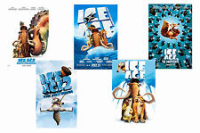 ICE AGE  FILMS - SET OF 5 - A4 FILM POSTER PRINTS # 1
