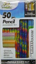 School Supplies Write Dudes 50-pc. Accessory Kit -Eraser Toppers,Grips,Sharpener