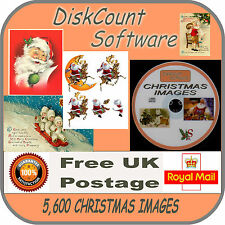 CHRISTMAS NOEL XMAS CARD MAKING COLLECTION 5,600 PICTURES IMAGES ON DVD VINTAGE