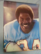 Original 1979 Houston Oilers' Earl Campbell 19x25in. Football 7Up Poster MINT
