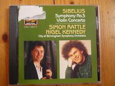 Sibelius: Symphony No. 5 & Violin Concerto Nigel Kennedy Simon Rattle