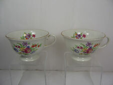 2 Tea Cups FAROLINA POLAND FINE BONE CHINA Numbered Floral Pattern
