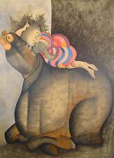 """Graciela Rodo Boulanger """"Au Repos"""" Original Lithograph Artwork"""